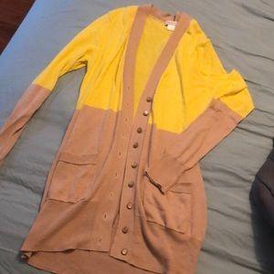 Garnet Hill lightweight cotton cardigan xs